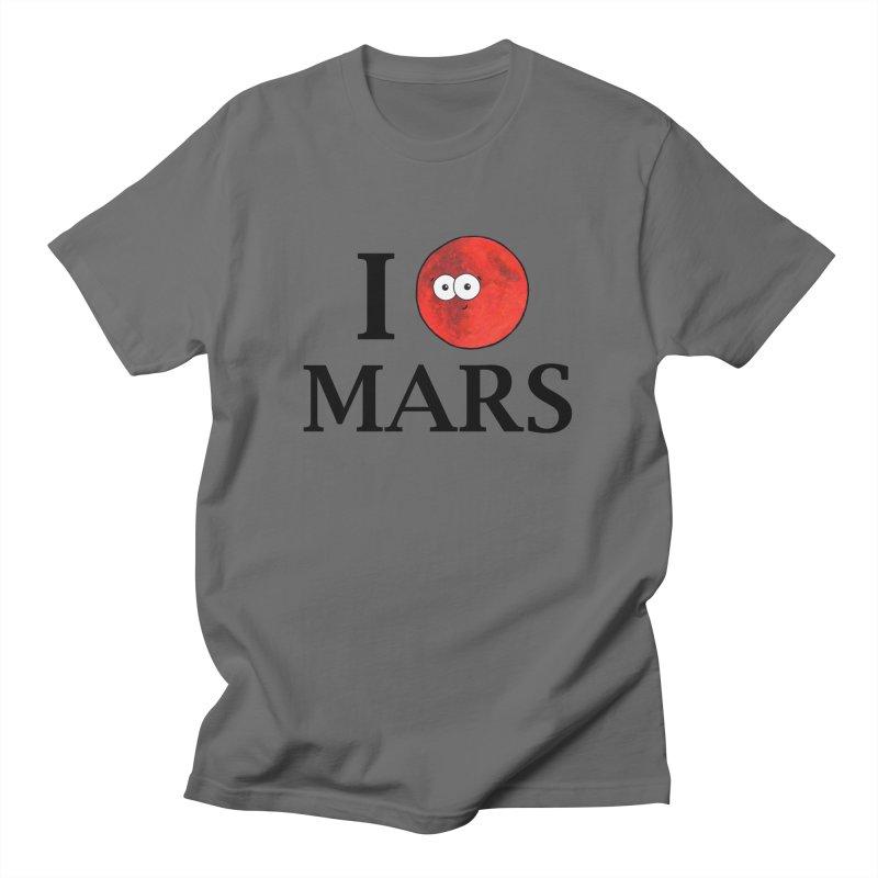 I Heart Mars Men's T-Shirt by Adrienne Body