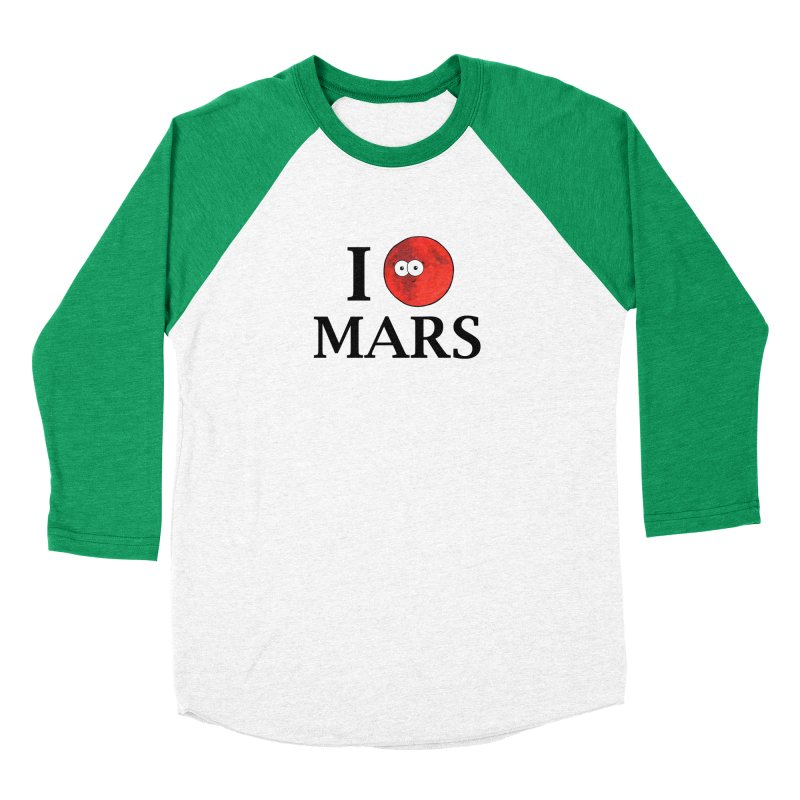I Heart Mars Women's Baseball Triblend Longsleeve T-Shirt by Adrienne Body