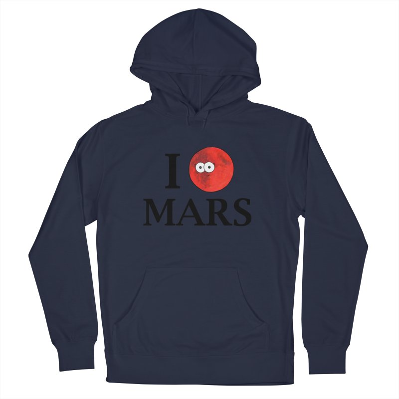 I Heart Mars Women's French Terry Pullover Hoody by Adrienne Body