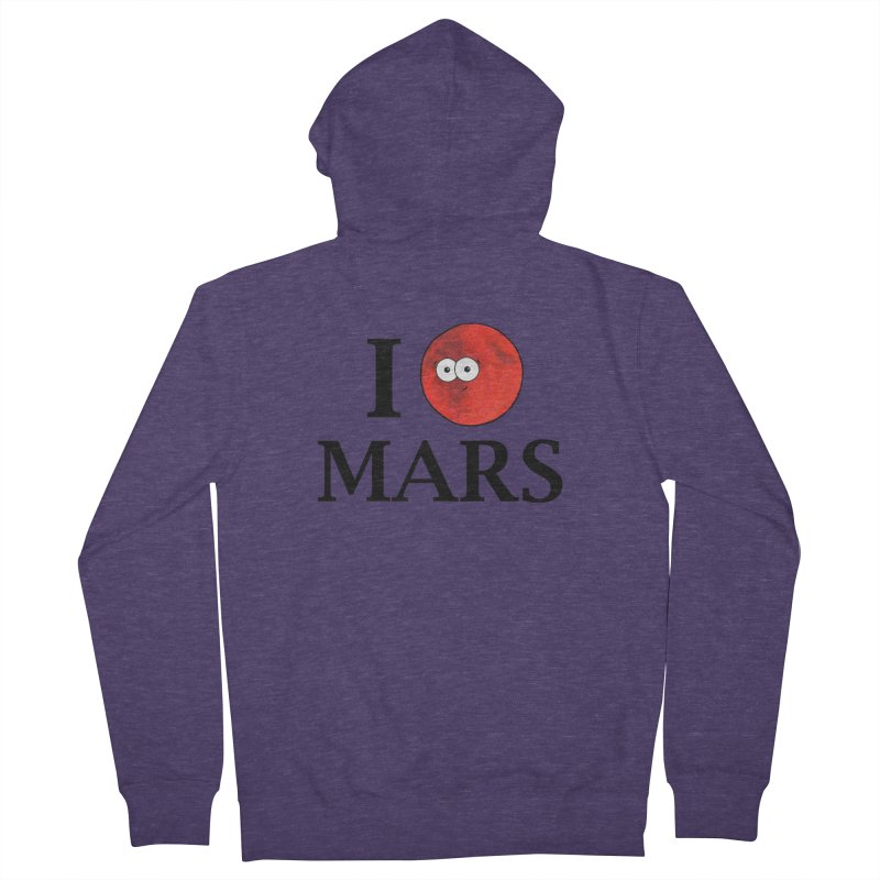 I Heart Mars Men's French Terry Zip-Up Hoody by Adrienne Body