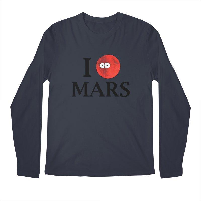 I Heart Mars Men's Regular Longsleeve T-Shirt by Adrienne Body
