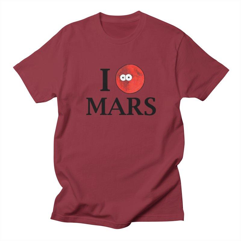 I Heart Mars Men's Regular T-Shirt by Adrienne Body