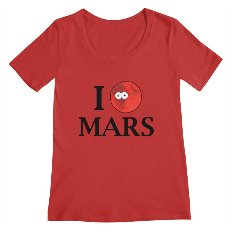 I Heart Mars Women's Regular Scoop Neck by Adrienne Body
