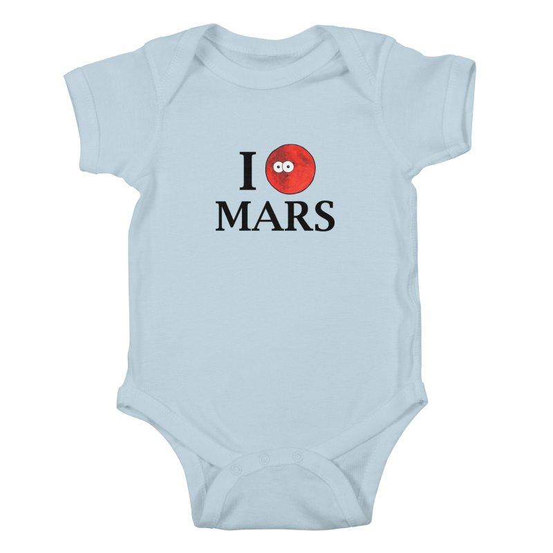 I Heart Mars Kids Baby Bodysuit by Adrienne Body