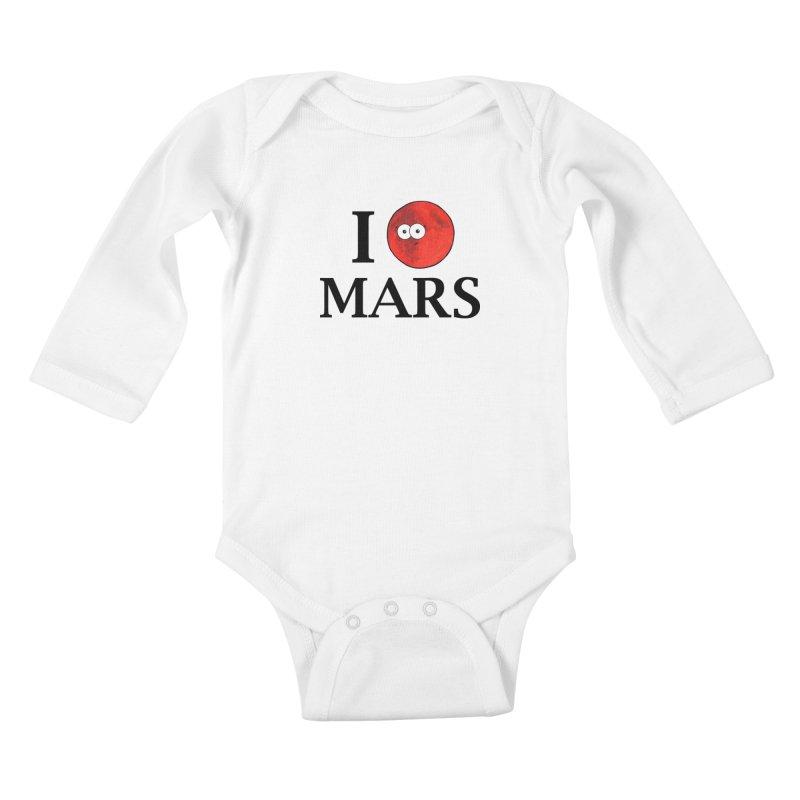 I Heart Mars Kids Baby Longsleeve Bodysuit by Adrienne Body