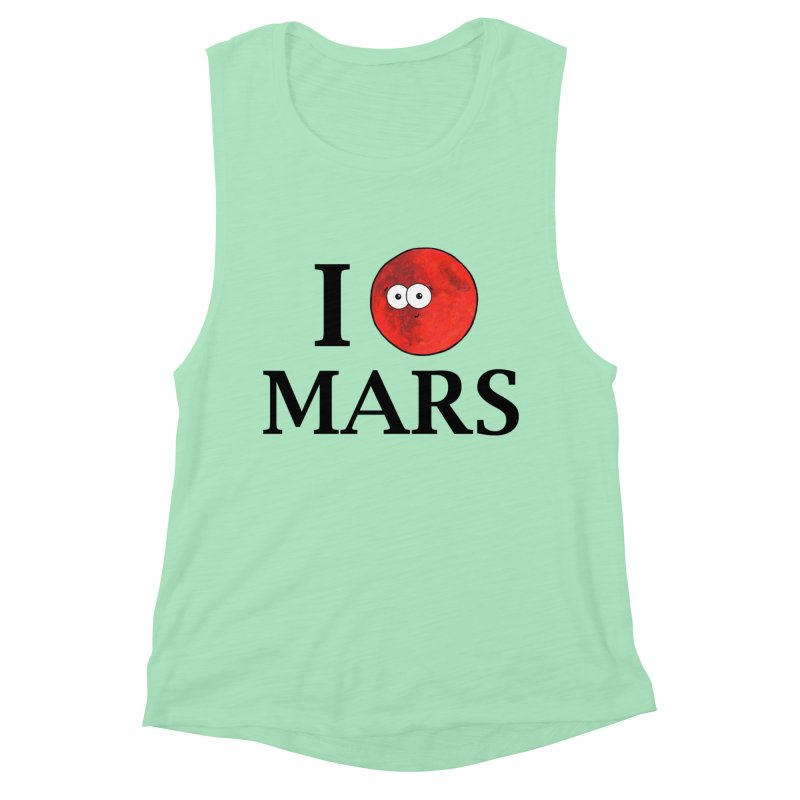 I Heart Mars Women's Muscle Tank by Adrienne Body