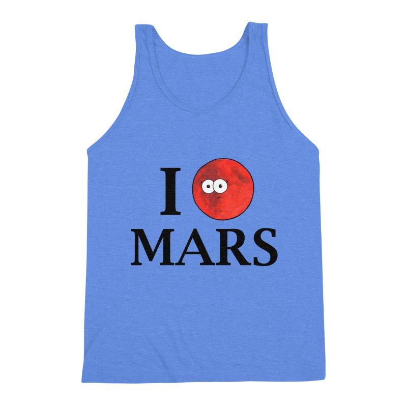 I Heart Mars Men's Triblend Tank by Adrienne Body