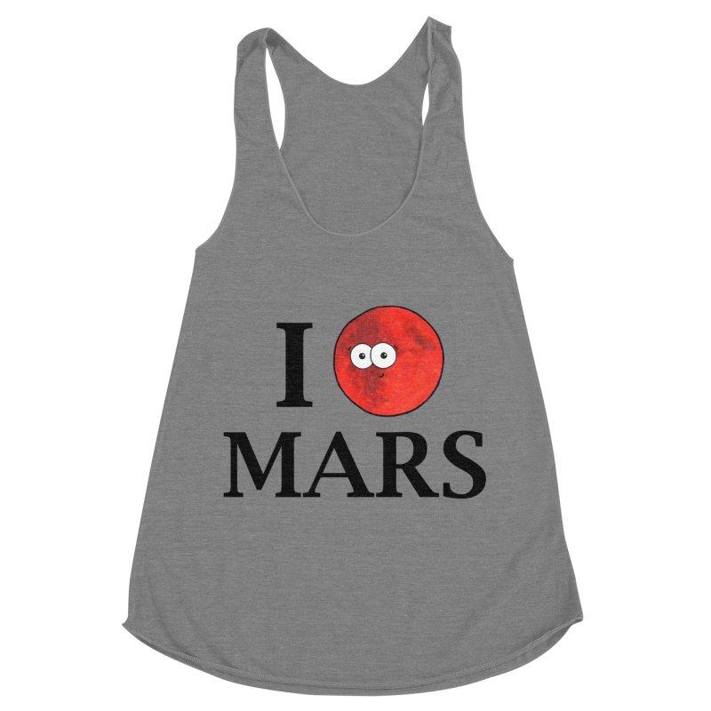 I Heart Mars Women's Racerback Triblend Tank by Adrienne Body