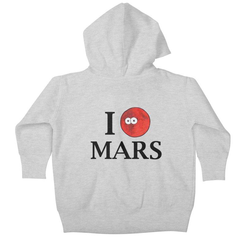 I Heart Mars Kids Baby Zip-Up Hoody by Adrienne Body
