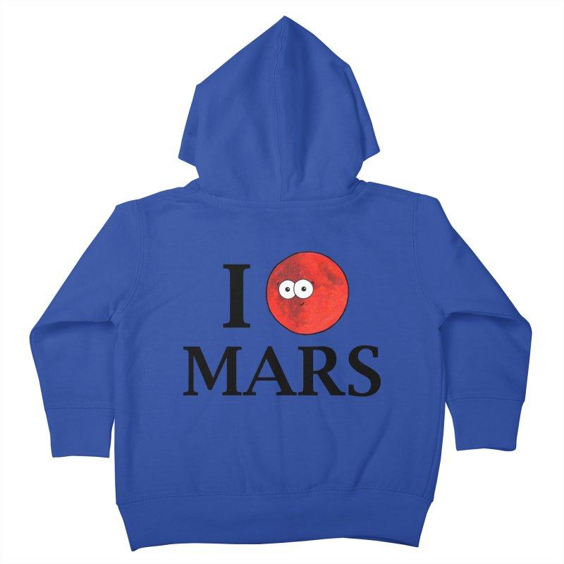 I Heart Mars Kids Toddler Zip-Up Hoody by Adrienne Body