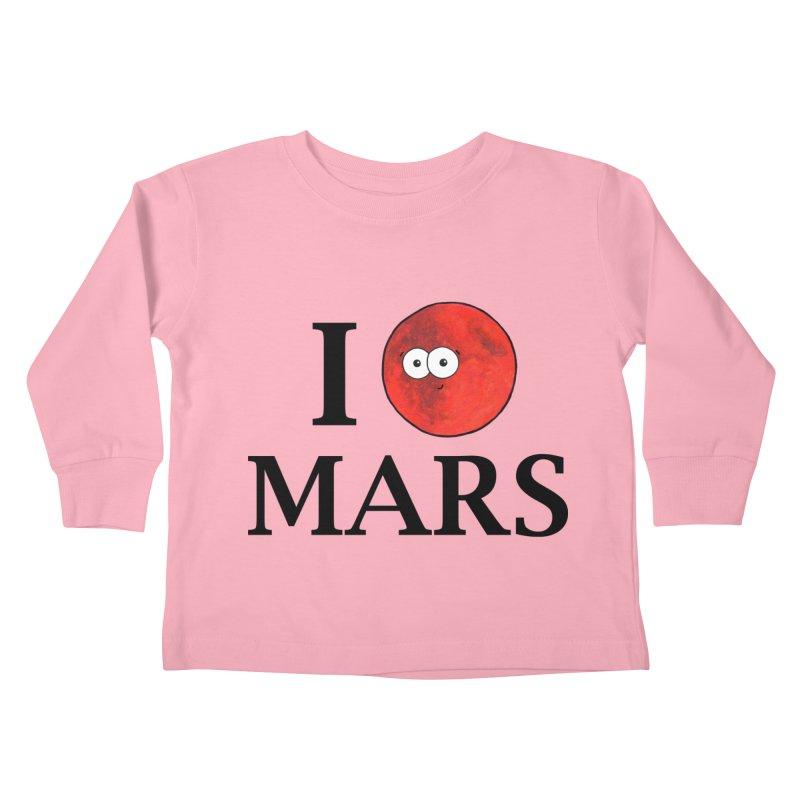 I Heart Mars Kids Toddler Longsleeve T-Shirt by Adrienne Body