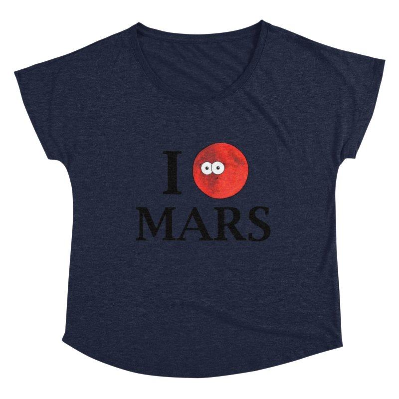 I Heart Mars Women's Dolman Scoop Neck by Adrienne Body