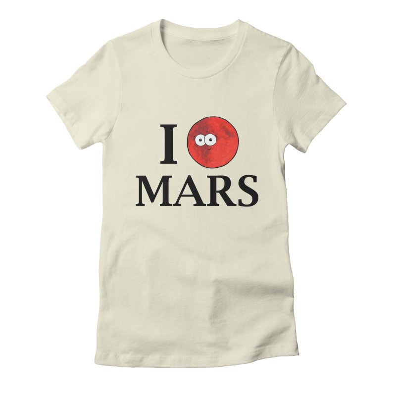 I Heart Mars Women's Fitted T-Shirt by Adrienne Body