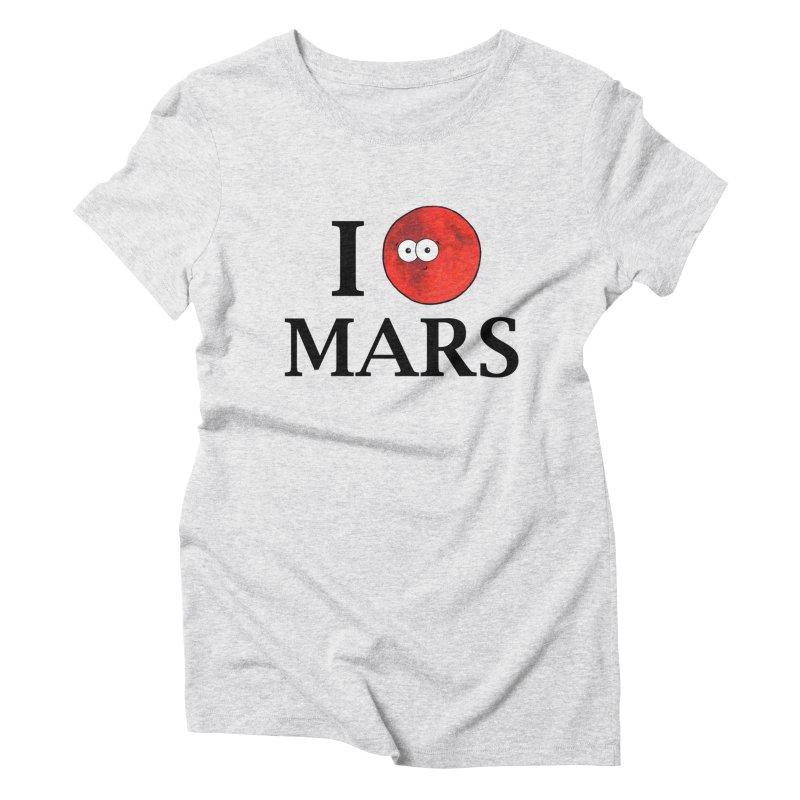 I Heart Mars Women's Triblend T-Shirt by Adrienne Body