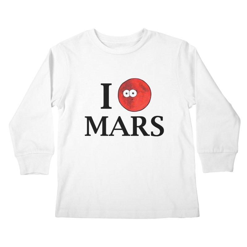 I Heart Mars Kids Longsleeve T-Shirt by Adrienne Body