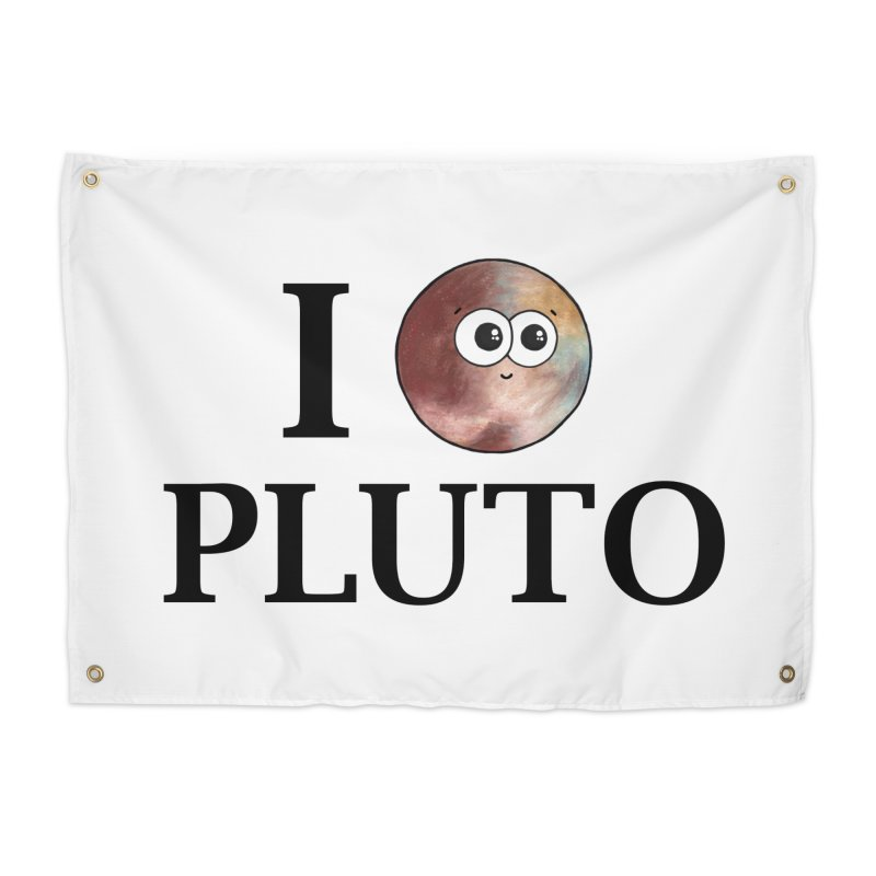 I Heart Pluto Home Tapestry by Adrienne Body