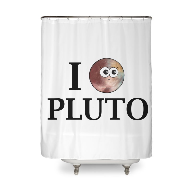 I Heart Pluto Home Shower Curtain by Adrienne Body