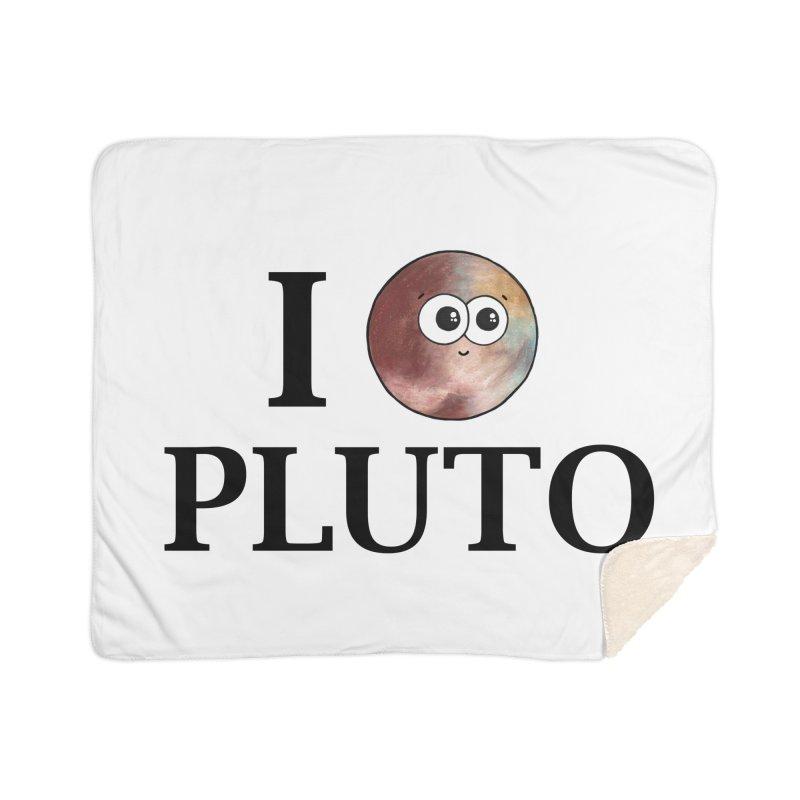 I Heart Pluto Home Sherpa Blanket Blanket by Adrienne Body