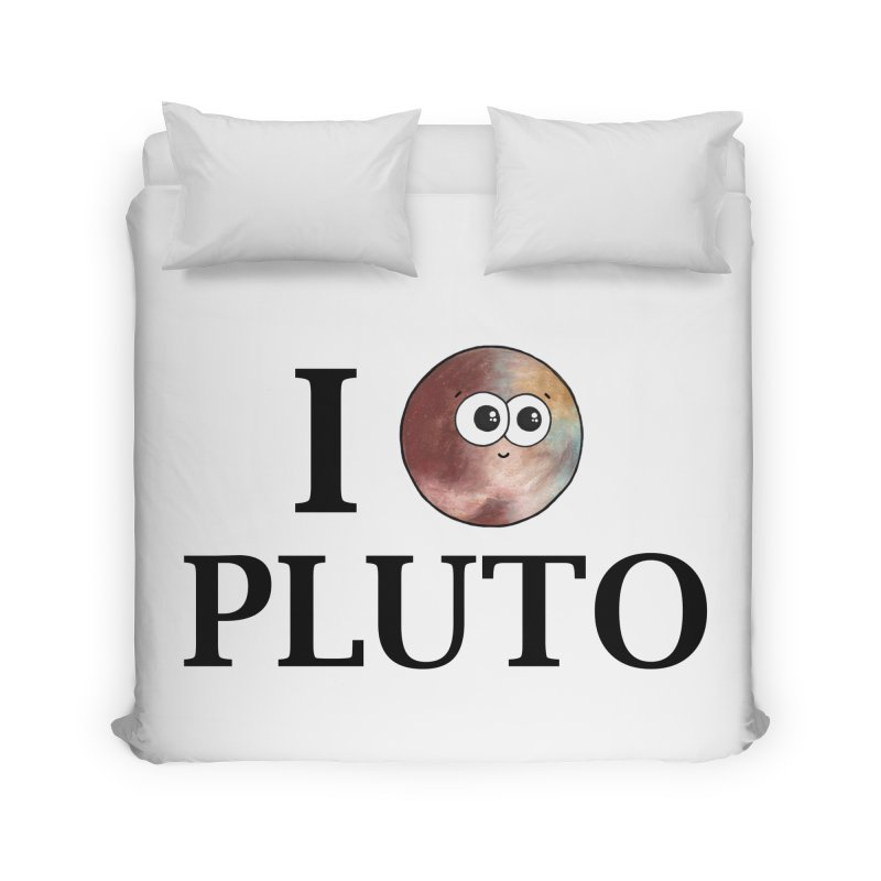 I Heart Pluto Home Duvet by Adrienne Body