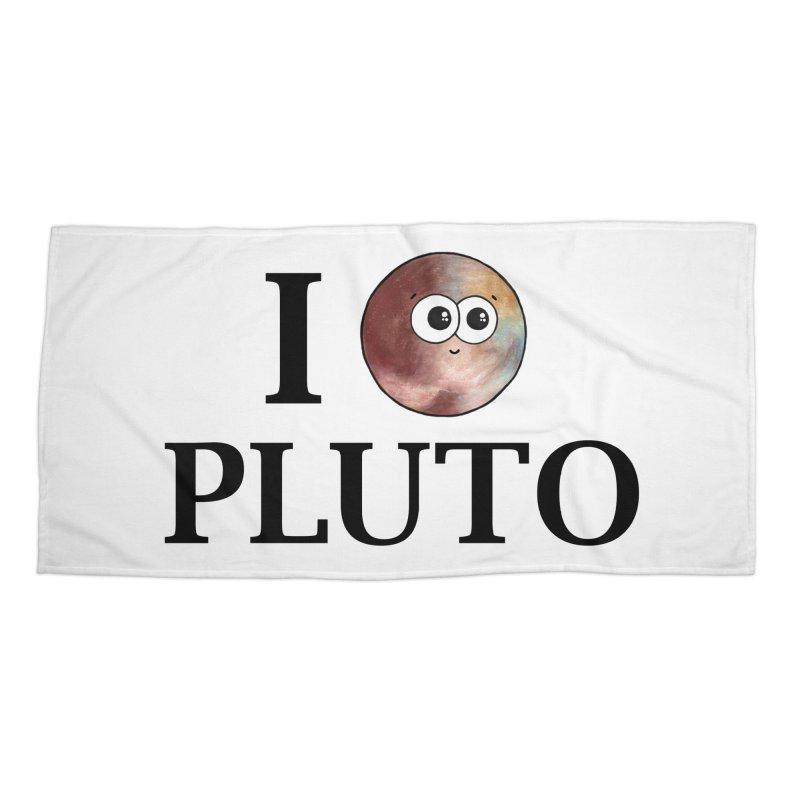 I Heart Pluto Accessories Beach Towel by Adrienne Body