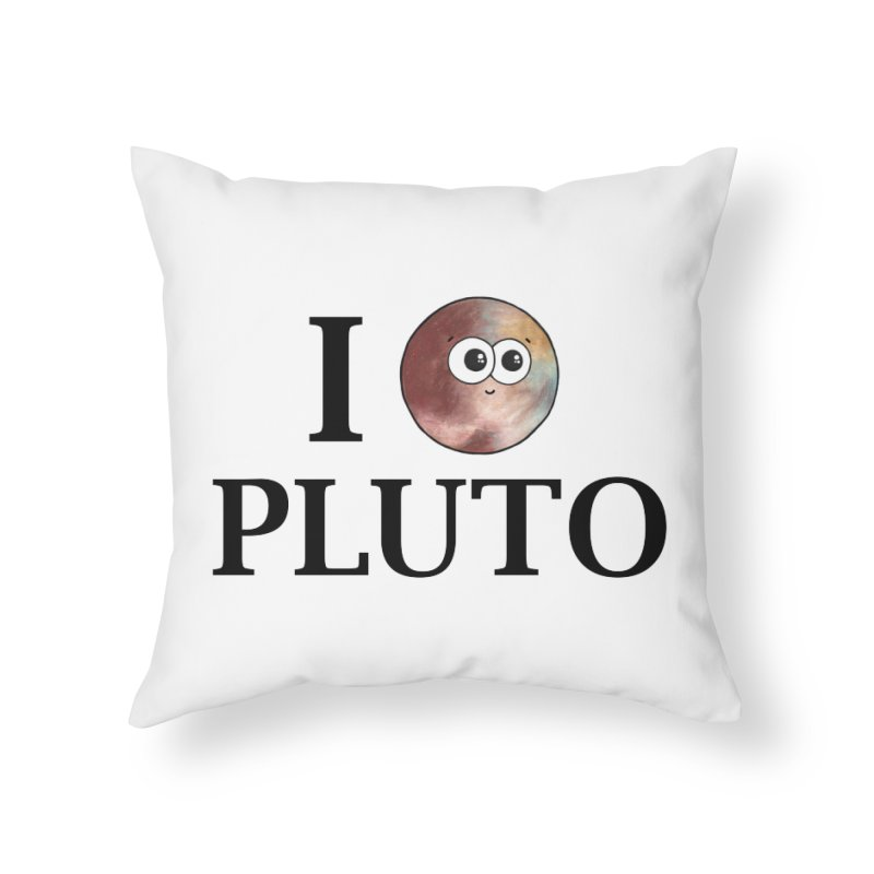 I Heart Pluto Home Throw Pillow by Adrienne Body