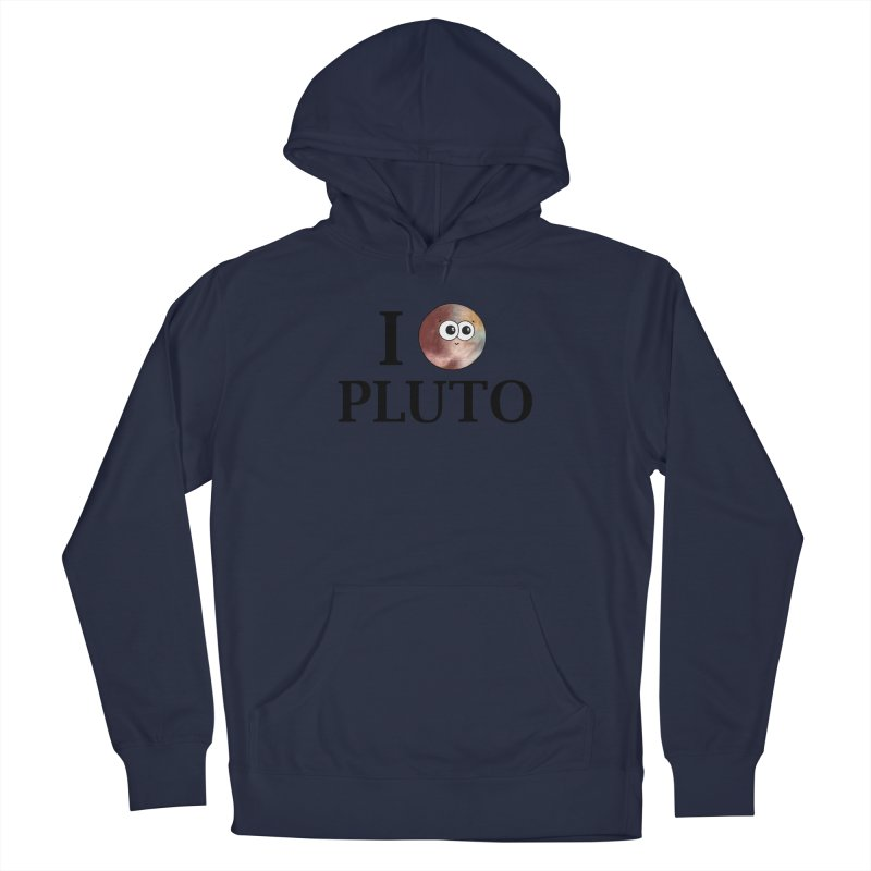 I Heart Pluto Women's French Terry Pullover Hoody by Adrienne Body