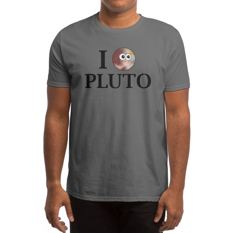 I Heart Pluto Men's T-Shirt by Adrienne Body