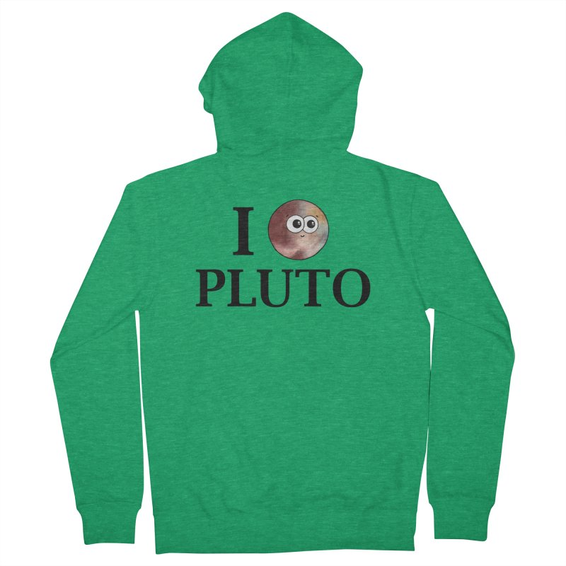 I Heart Pluto Men's French Terry Zip-Up Hoody by Adrienne Body