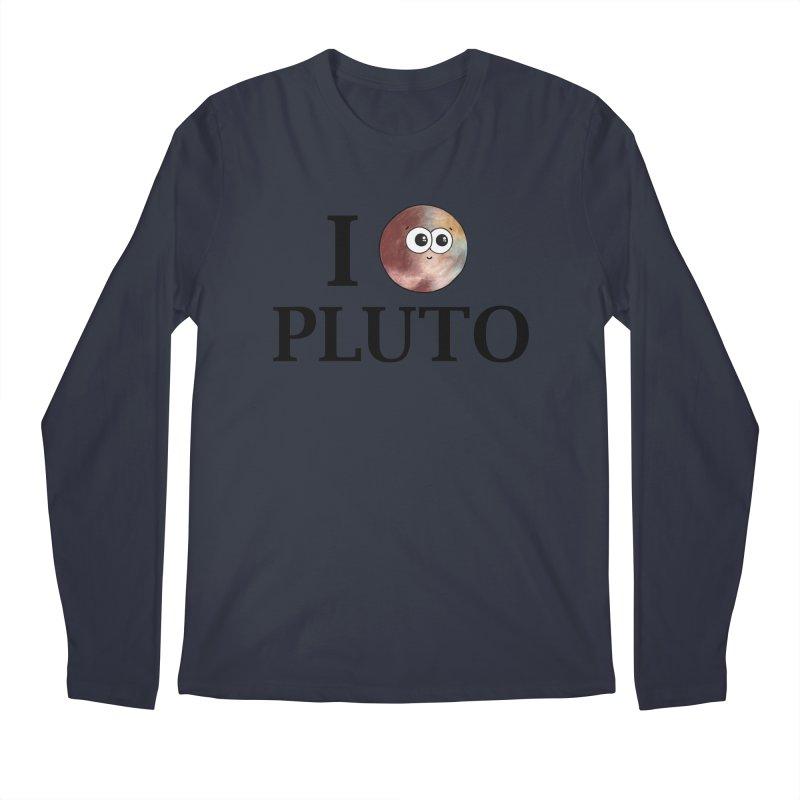 I Heart Pluto Men's Regular Longsleeve T-Shirt by Adrienne Body