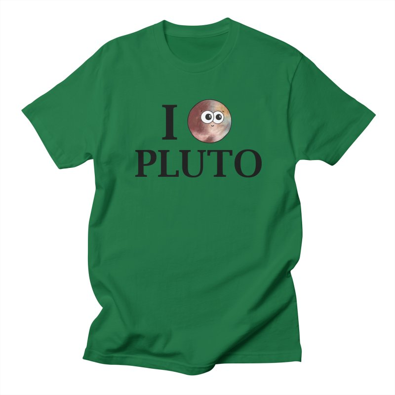 I Heart Pluto Women's Regular Unisex T-Shirt by Adrienne Body