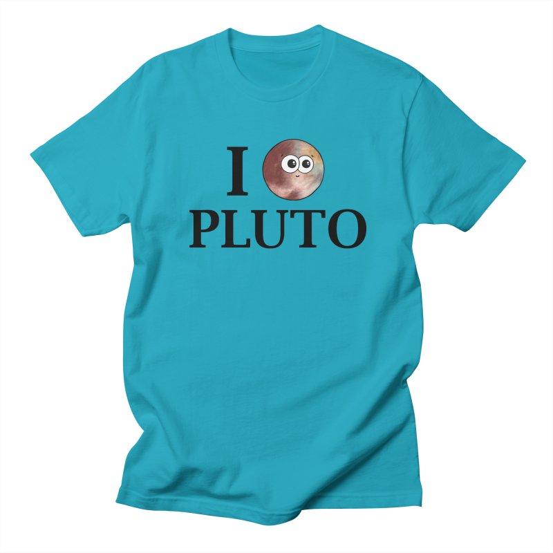 I Heart Pluto Men's Regular T-Shirt by Adrienne Body