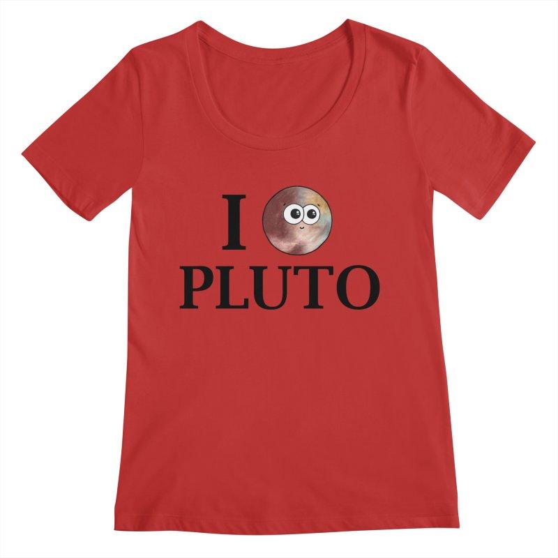 I Heart Pluto Women's Regular Scoop Neck by Adrienne Body