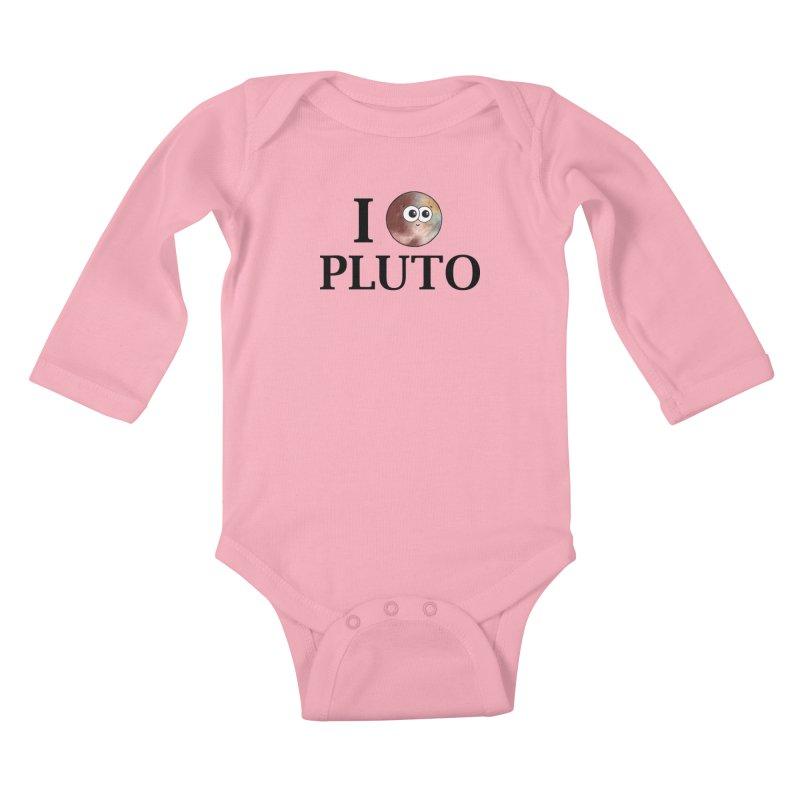 I Heart Pluto Kids Baby Longsleeve Bodysuit by Adrienne Body