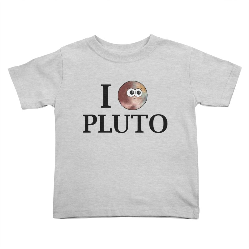 I Heart Pluto Kids Toddler T-Shirt by Adrienne Body