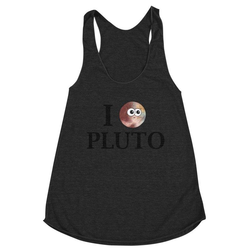 I Heart Pluto Women's Racerback Triblend Tank by Adrienne Body