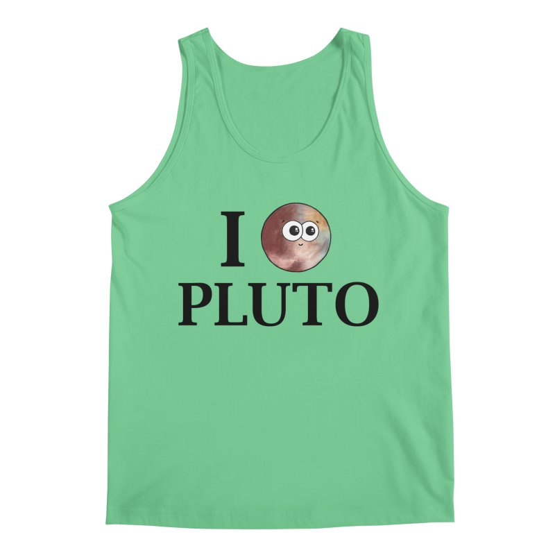 I Heart Pluto Men's Tank by Adrienne Body