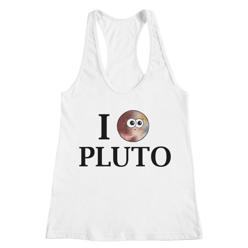 I Heart Pluto Women's Racerback Tank by Adrienne Body