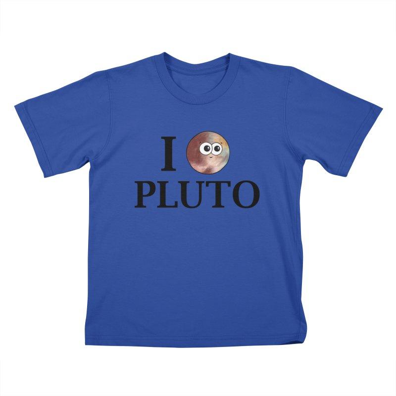 I Heart Pluto Kids T-Shirt by Adrienne Body