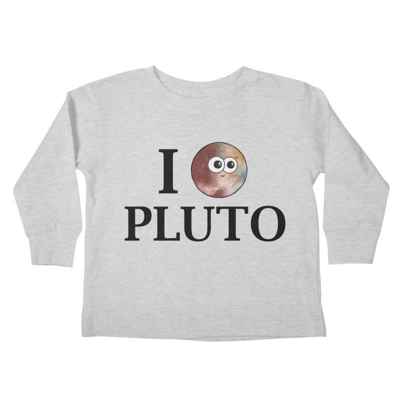 I Heart Pluto Kids Toddler Longsleeve T-Shirt by Adrienne Body