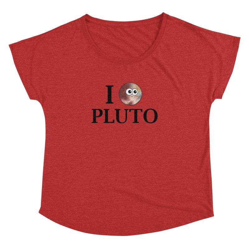 I Heart Pluto Women's Dolman Scoop Neck by Adrienne Body