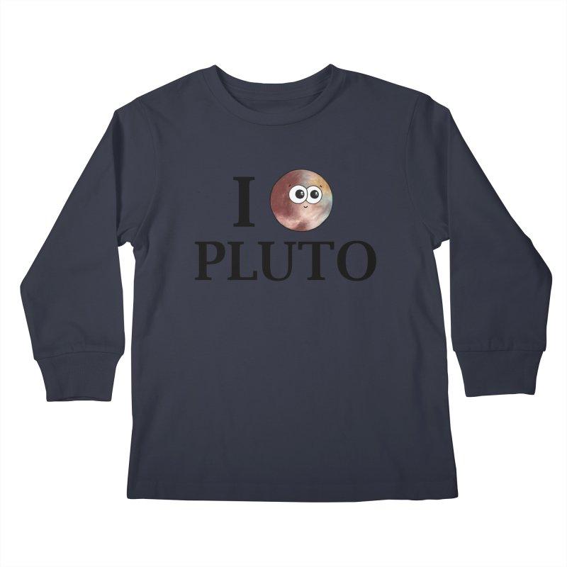 I Heart Pluto Kids Longsleeve T-Shirt by Adrienne Body