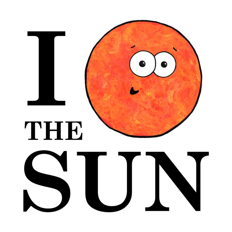 I Heart The Sun Men's T-Shirt by Adrienne Body