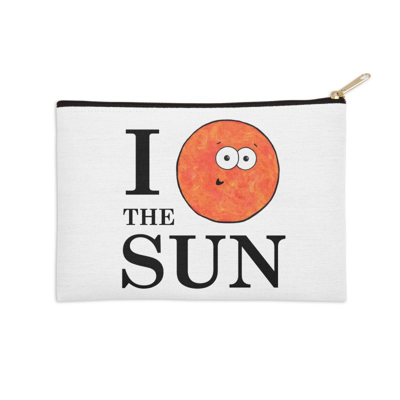 I Heart The Sun Accessories Zip Pouch by Adrienne Body