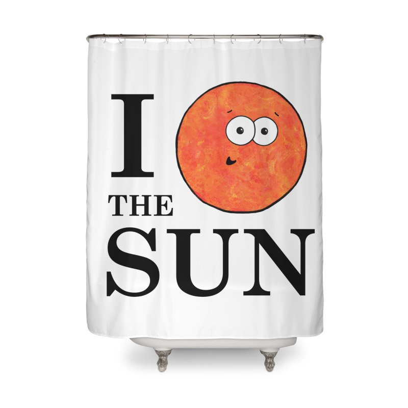 I Heart The Sun Home Shower Curtain by Adrienne Body