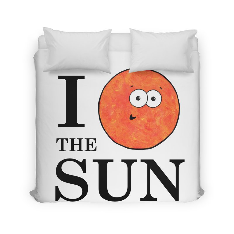 I Heart The Sun Home Duvet by Adrienne Body