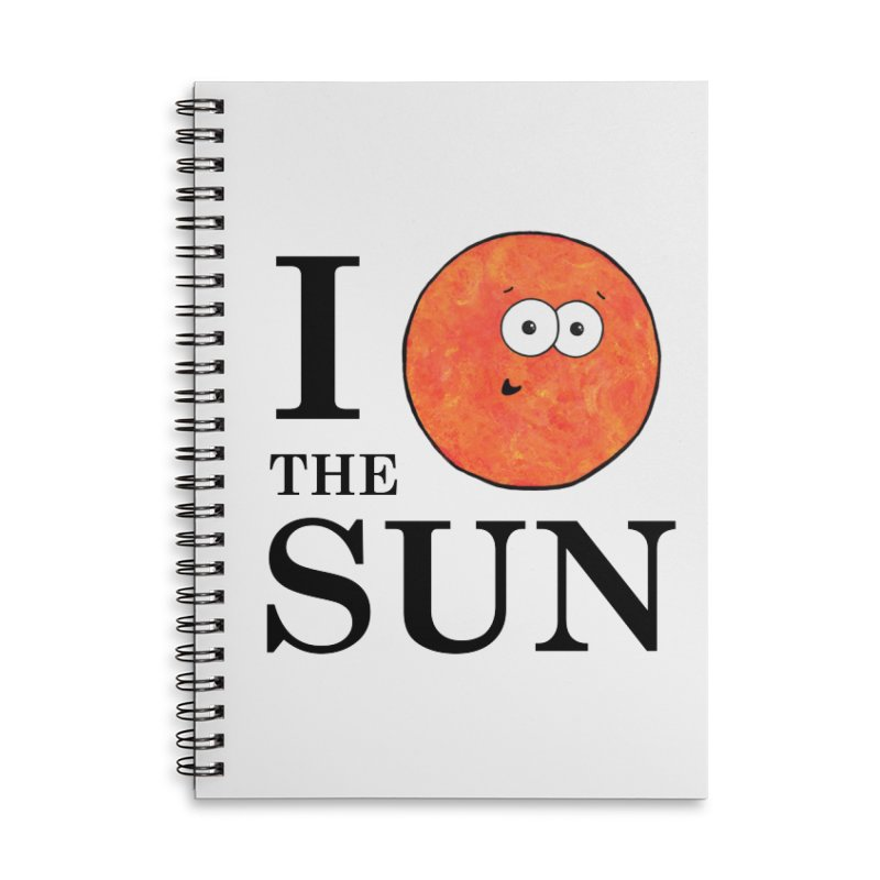 I Heart The Sun Accessories Lined Spiral Notebook by Adrienne Body