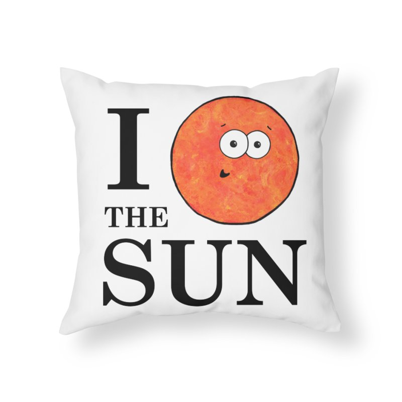 I Heart The Sun Home Throw Pillow by Adrienne Body