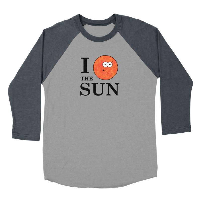 I Heart The Sun Women's Baseball Triblend Longsleeve T-Shirt by Adrienne Body