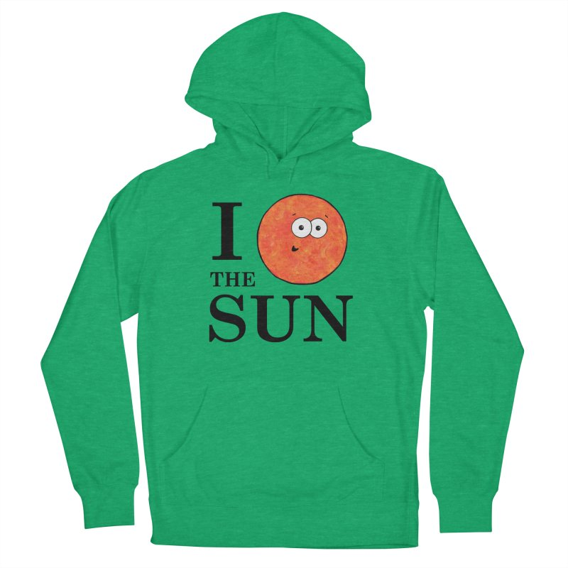 I Heart The Sun Men's French Terry Pullover Hoody by Adrienne Body