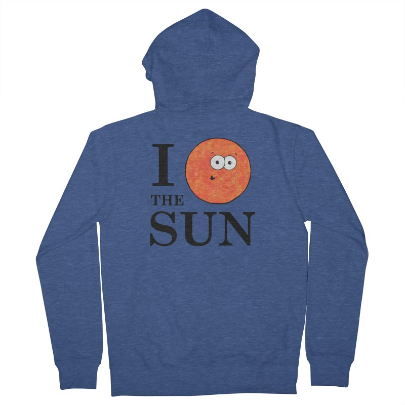 I Heart The Sun Men's French Terry Zip-Up Hoody by Adrienne Body